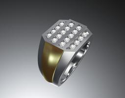Mens ring printable 3D print model