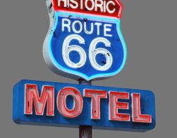 3D asset Street Sign Route 66