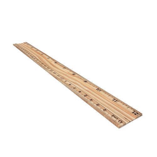 wooden ruler 3d model low-poly obj mtl 3ds fbx dae 1