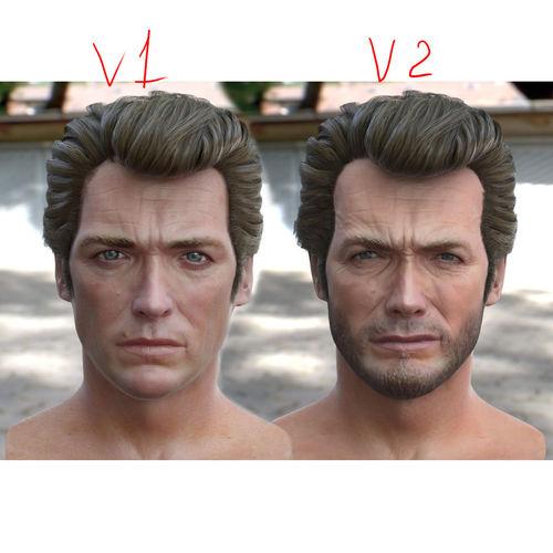 3d model clint eastwood head 3d model obj mtl blend 1