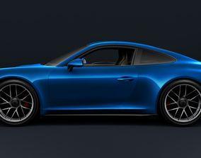 Porsche 911 Carrera 4 3D model detailed