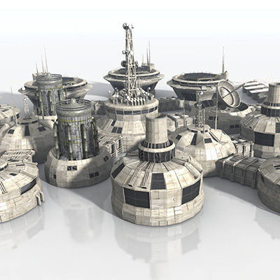 Modular Moon And Mars Base