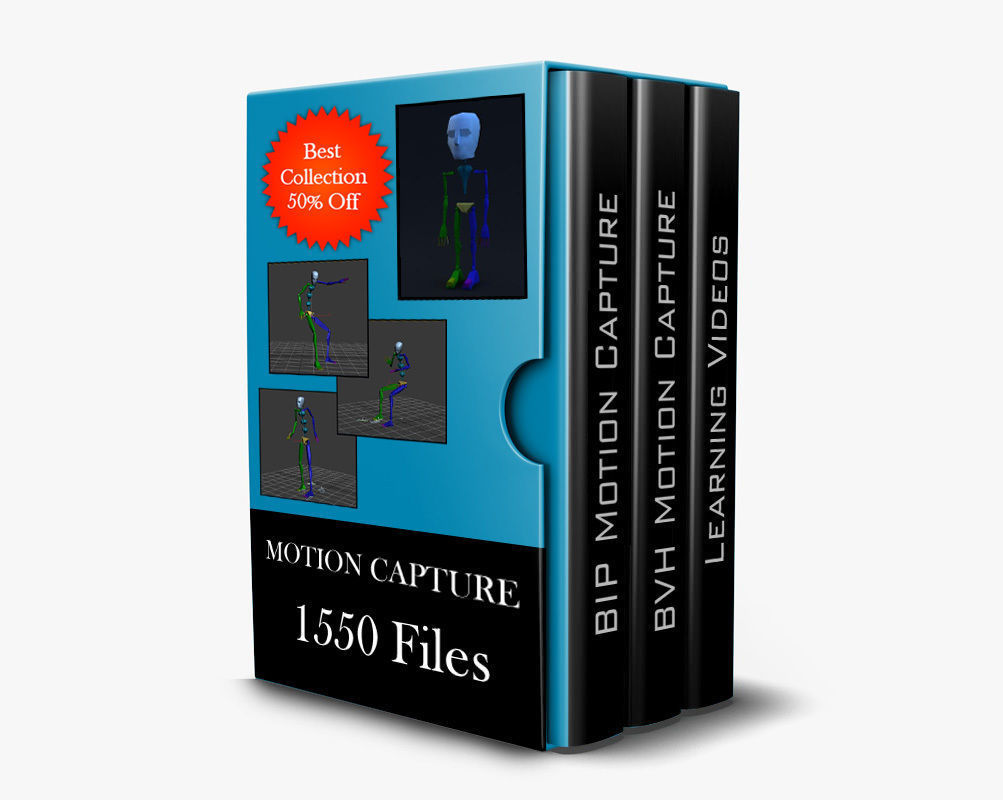 1550 Motion Capture Files and 5 Learning Videos