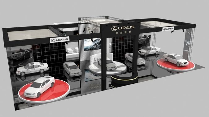 Lexus Car Show D CGTrader - Lexus car show