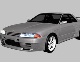 3D asset Nissan Skyline GT-R R32 1993