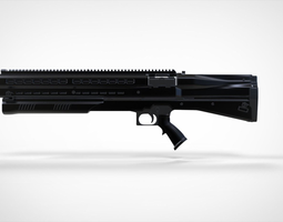3D UTS 15 Shotgun - High Poly