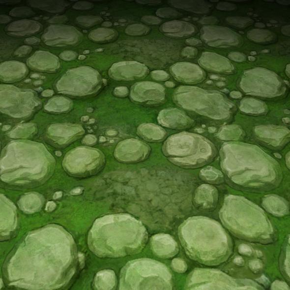 ground stone grass tile 09