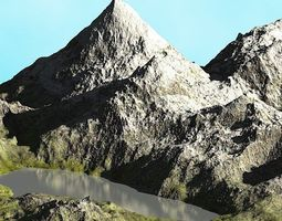 3D model Real Mountain