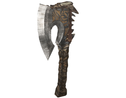 3D model game-ready Battle-Axe