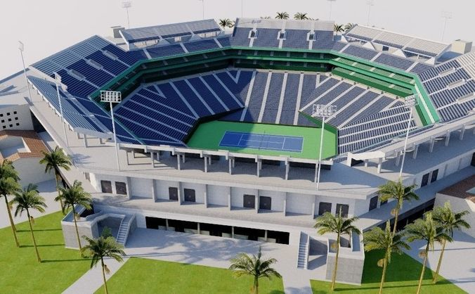 indian wells tennis garden stadium 1 3d model obj mtl 3ds fbx dae dwg skp - Indian Wells Tennis Garden