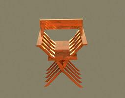 relax 3D model Modern savonarola chair
