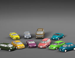 3D asset Vehicle Packs cars Nissan