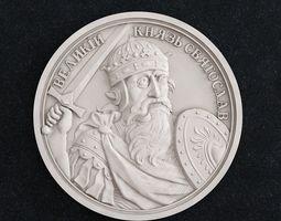 Coin Velikii Kniyaz Sviatoslav 3D print model