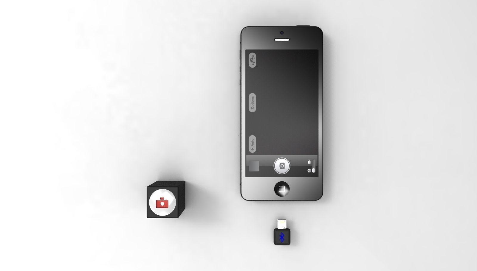 iPhone 5 Bluetooth Remote Camera Control 3D model DAE SKP