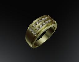 3D printable model Mens ring rings