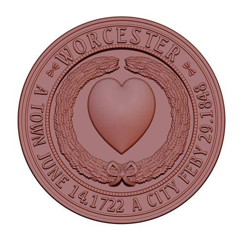 seal of worcester 3d model obj mtl stl 1