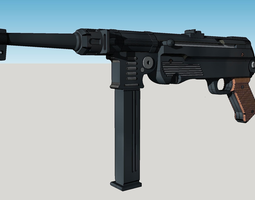 3D printable model MP40 Machine Gun