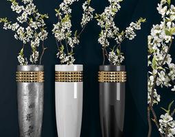 Decorative vase set 27 3D