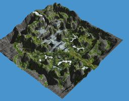 game scene 3D asset game-ready