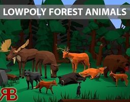 Lowpoly Forest Animals 3D model