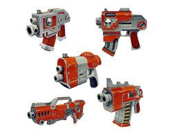 Low Poly Gun Set 01 3D asset