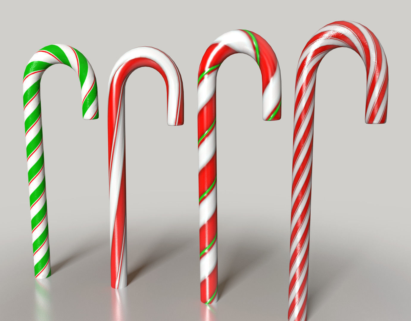 Christmas Candy.Christmas Candy Canes And Lollipops Etc 3d Model