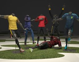Male mannequin Nike Football pack 3D