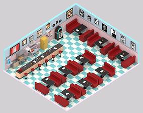 Diner 50s 3D model