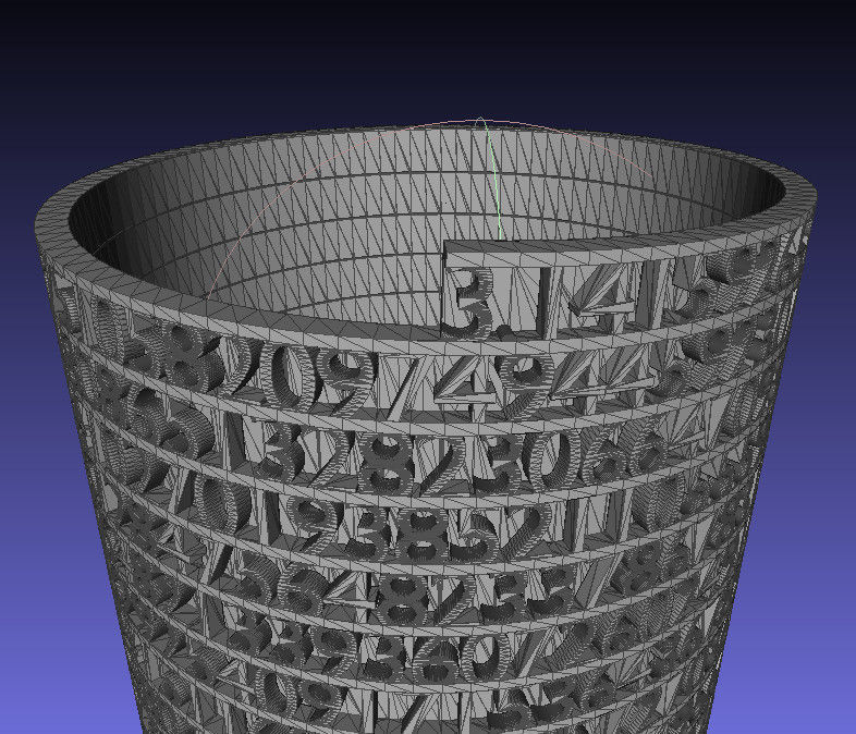 Tower Of Pi Free 3d Model 3d Printable Stl Cgtrader Com
