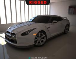 3D rigged Nissan GTR dynamics