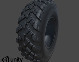 Rubber Tire Low-poly Game Ready VR AR 3D realtime