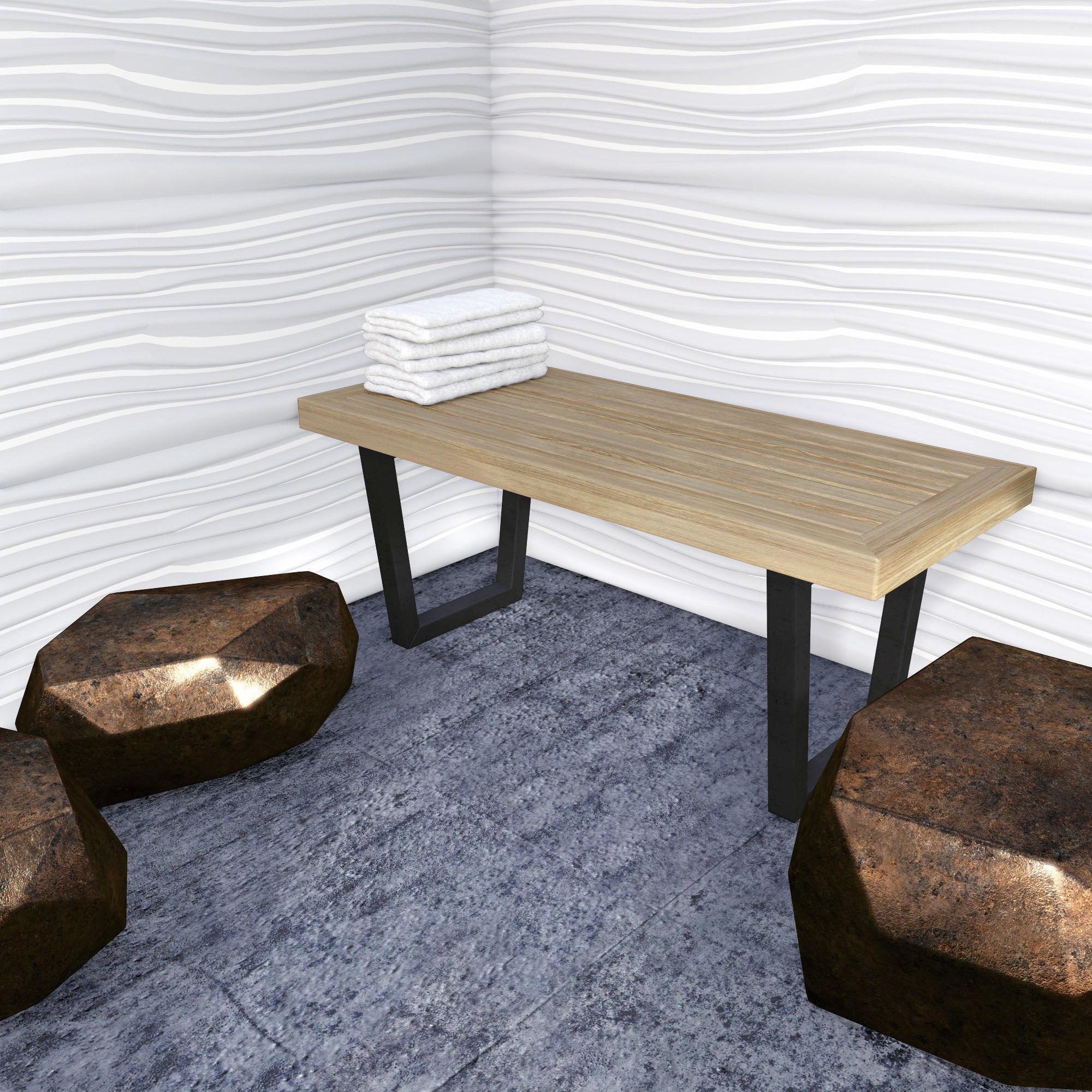modern wooden bench d model obj ds fbx dae mtl  . modern wooden bench d  cgtrader