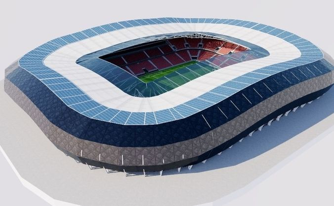 allianz riviera - stade de nice 3d model obj mtl 3ds fbx 1