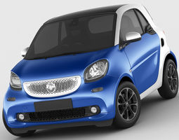 smart fortwo 2015 3d