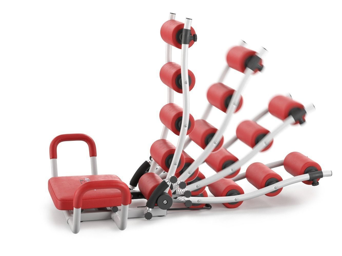 gym trainer ab rocket twister - rigged 3d model max 1