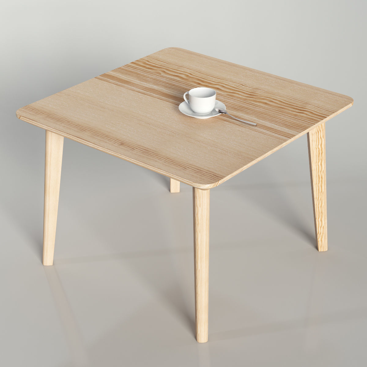 3d Model Ikea Lisabo Coffe Table 70cm Cgtrader