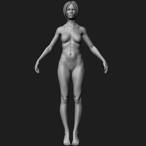 zbrush female basemesh 01 3d model obj ztl 1