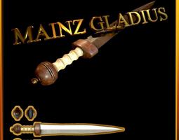 Mainz Gladius Roman Sword 3D asset