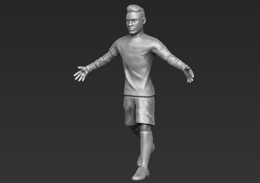 Neymar 3D printing ready stl obj formats