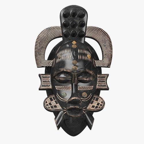 african masks senufo porcupine 3d model low-poly max fbx 1