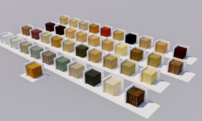 wood materials textures 3d model dae 1