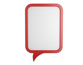 Speech Bubble V01 3D