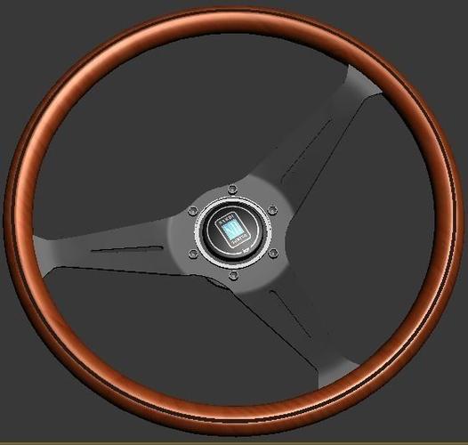 nardi torino - wood steering wheel 3d model max tga 1