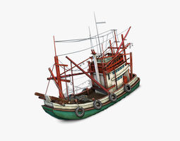 3D model Thai Fishing boat