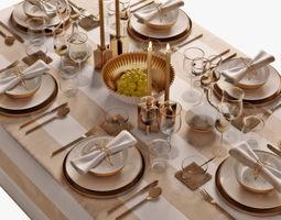 model table setting 05 3D