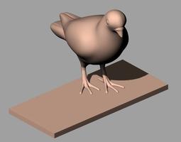 3D Animal Sculpture Model Bird A161