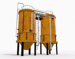 3D model realtime Industrial Tank