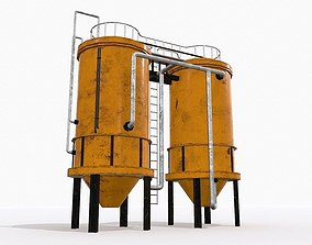 3D model realtime Industrial Tank