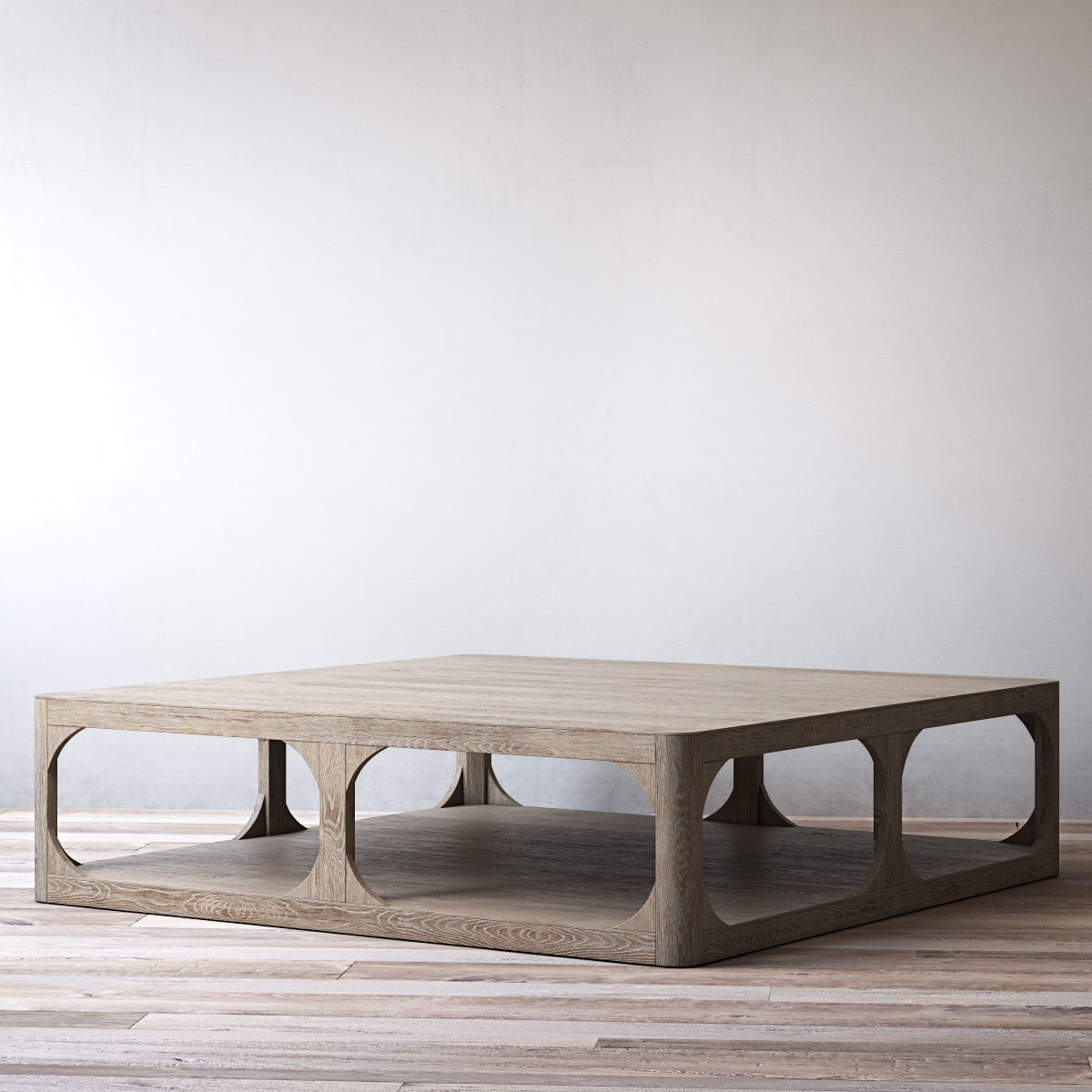 Exceptionnel ... Rh Martens Square Coffee Table 3d Model Max Obj Mtl 3ds Fbx Mat 4 ...