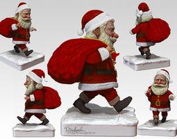 Santa Claus 3D asset rigged